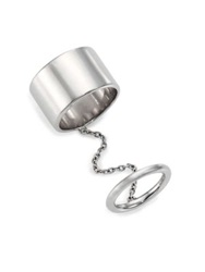 Elizabeth And James Mies Chained Knuckle Ring Silver