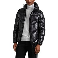 Isaora Down Quilted Ripstop Hooded Puffer Jacket Black