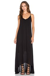 Pink Stitch Resort Maxi Dress Black