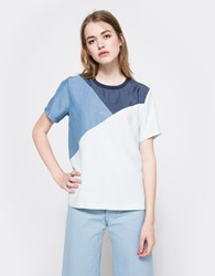Just Female Trois Tee Blue Wash