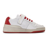 Saint Laurent White And Red Sl24 Low Sneakers