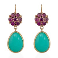 Emma Chapman Jewels Bellina Tourmaline Earrings Green
