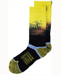 Strideline Seattle City Socks Ii Yellow Black