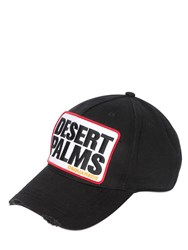 Dsquared Desert Palm Patch Cotton Baseball Cap