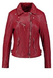 Gipsy Prim Leather Jacket Red