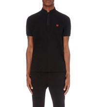 The Kooples Classic Fit Cotton Pique Polo Shirt Black Orange