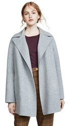 Theory Overlay Df Coat Blue Grey