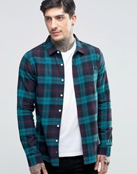 Another Influence Checked Shirt Green