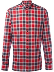 Lanvin Checked Flannel Shirt Red