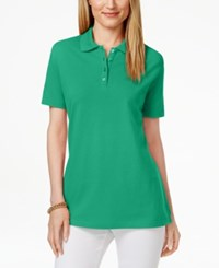 Karen Scott Short Sleeve Polo Top Only At Macy's