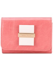 See By Chloe Bow Front Wallet Women Calf Leather One Size Pink Purple