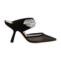 Nicholas Kirkwood Monstera Mules Black