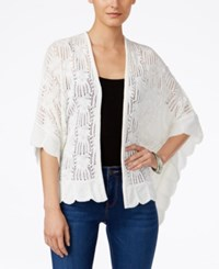 Styleandco. Style And Co. Pointelle Knit Scalloped Hem Cardigan Only At Macy's Winter White