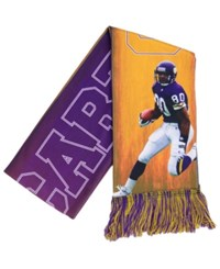 Forever Collectibles Cris Carter Minnesota Vikings Sublimated Player Scarf Purple Gold