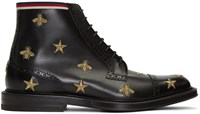 Gucci Black Beyond Lace Up Boots