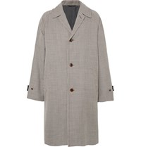 Camoshita Oversized Houndstooth Wool Coat Brown