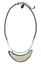 Natasha Couture Women's Hammered Silvertone Necklace