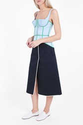 Thom Browne Women S Demi Cup Bodice Top Boutique1 Blue