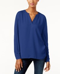 Inc International Concepts Dolman Sleeve Split Neck Top Only At Macy's Goddess Blue