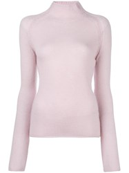 Forte Forte Stand Up Collar Jumper Pink Purple