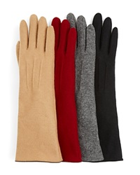 Echo Long Cashmere Blend Tech Gloves Grey Heather