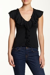 Sweet Pea Ruffled Tank Black
