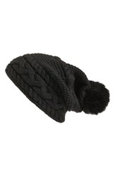 Uggr Women's Ugg Cable Knit Genuine Shearling Pom Beanie