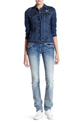 Miss Me Embroidered Straight Leg Jean Blue