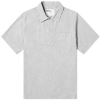 Mhl By Margaret Howell Mhl. Wide Placket Polo Shirt Grey