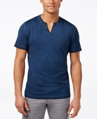 Kenneth Cole Reaction Eyelet Henley T Shirt Laguna