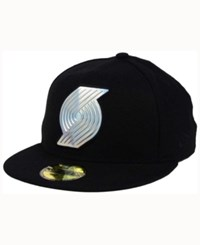 New Era Portland Trail Blazers Iridescent 59Fifty Cap Black