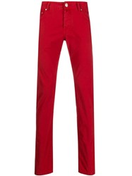 Jacob Cohen Skinny Fit Trousers Red