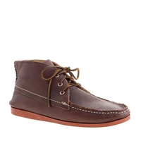 Men's Quoddy For J.Crew Leather Chukka Boots Dark Wood