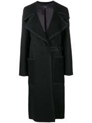 Joseph Notched Collar Coat Black