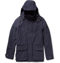 The Workers Club Hooded Cotton Canvas Jacket Navy