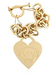 Maria Francesca Pepe Caitlin Price Heart And Chain Bracelet