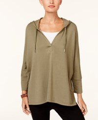 Styleandco. Style Co Oversized Dolman Sleeve Hoodie Created For Macy's Olive Sprig