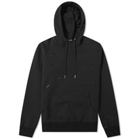 Christian Dior Homme All Over Embroidered Bee Popover Hoody Black