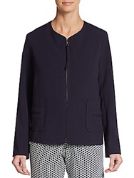 Max Studio Zip Front Jacket Navy