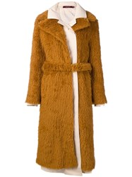Sies Marjan Long Coat Brown