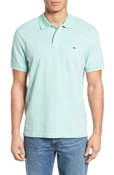 Vineyard Vines Men's Classic Fit Heathered Pique Polo