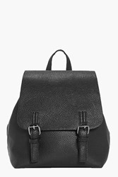 Boohoo Double Buckle Rucksack Black
