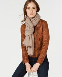 Charter Club Pure Cashmere Oversized Scarf Heather Taupe