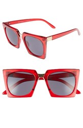 A. J. Morgan Women's A.J. Cropduster 52Mm Sunglasses Red