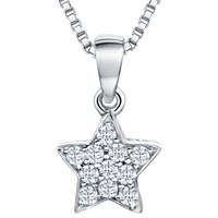 Jools By Jenny Brown Rhodium Plated Silver Cubic Zirconia Star Pendant Silver