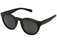 Zeal Optics Crowley Matte Black Polarized Dark Grey Lens Athletic Performance Sport Sunglasses