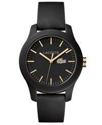 Lacoste Women's 12.12 Black Silicone Strap Watch 38Mm No Color