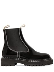 Proenza Schouler 30Mm Patent Leather Ankle Boots Black