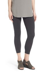 Eileen Fisher Women's Organic Cotton Crop Leggings Graphite