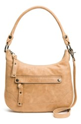 Frye Small Melissa Leather Hobo Bag Beige